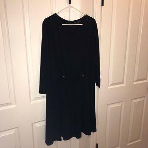 Eloquii Black 3/4 sleeve Dress